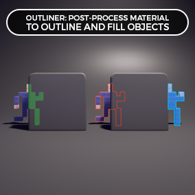 Outliner is a highly customizable and easy-to-use post process material to outline and fill objects.