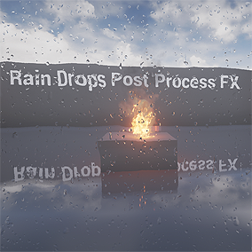 Post process effect for simulate rain droplets, rolling leaks and wet layer. Useful for scene with rain weather.