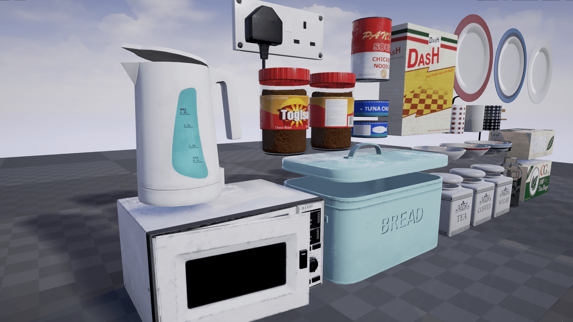 Kitchen Accessories Pack by Blueprint Games in Props - UE4 Marketplace