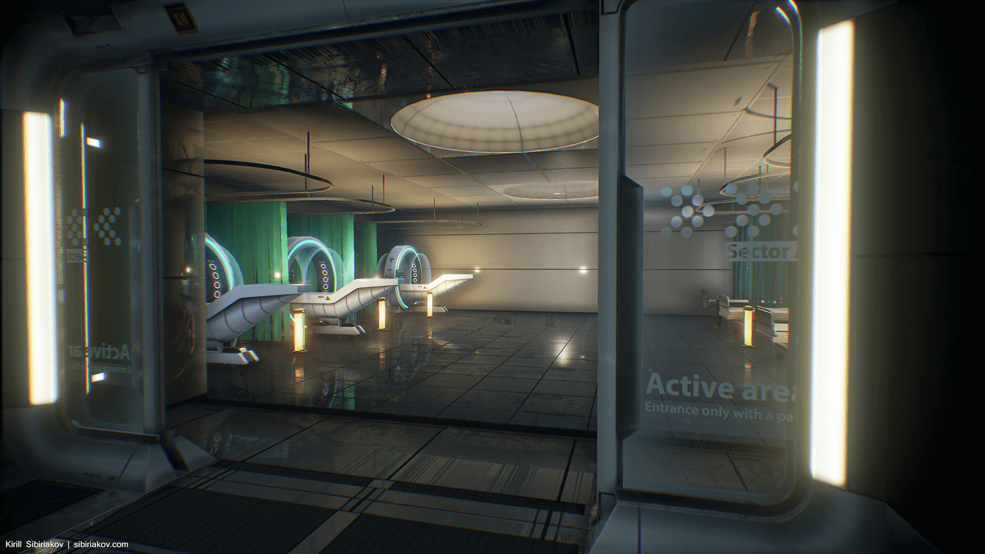 Modular Sci Fi Hospital By Kirill Sibiriakov In