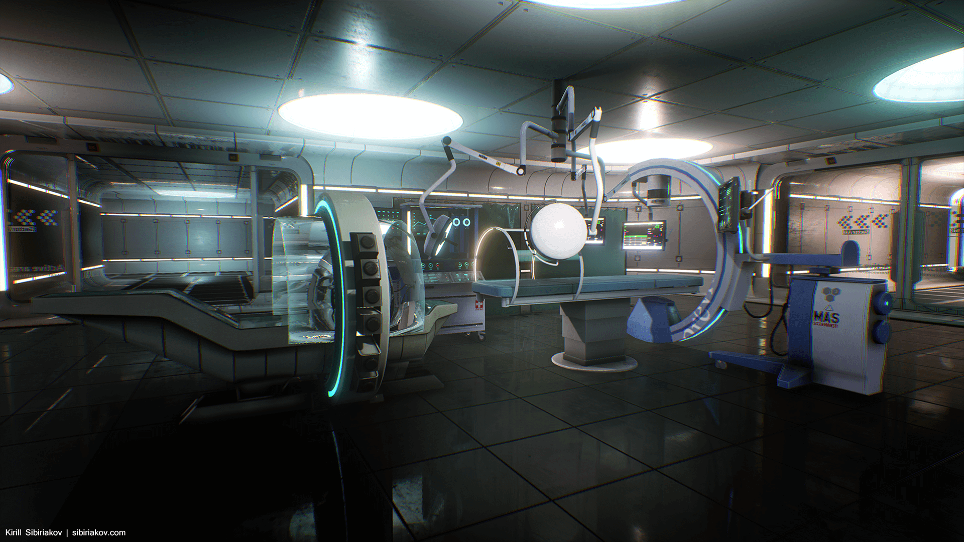 Modular Sci Fi Hospital By Kirill Sibiriakov In