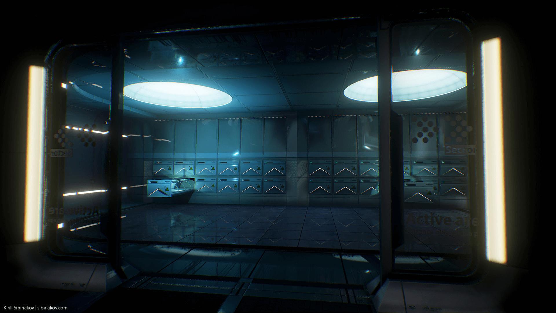 Modular sci fi hospital by kirill sibiriakov in for Sci fi decor