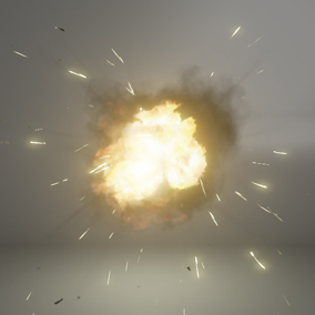 A selection of 7 Explosion effects, ranging from a grenade to a fireball to an EMP.