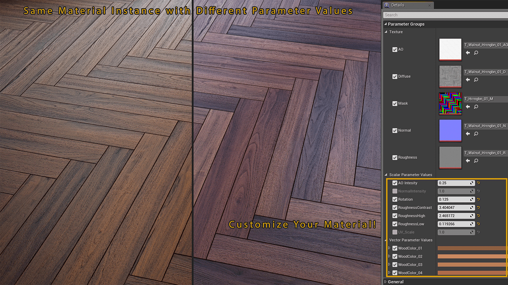 Floor Materials 4k materials wood flooringkarl detroit in materials - ue4
