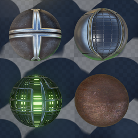 A pack of 31 ready-to-use UE4 materials made by the ace team at GameTextures.com