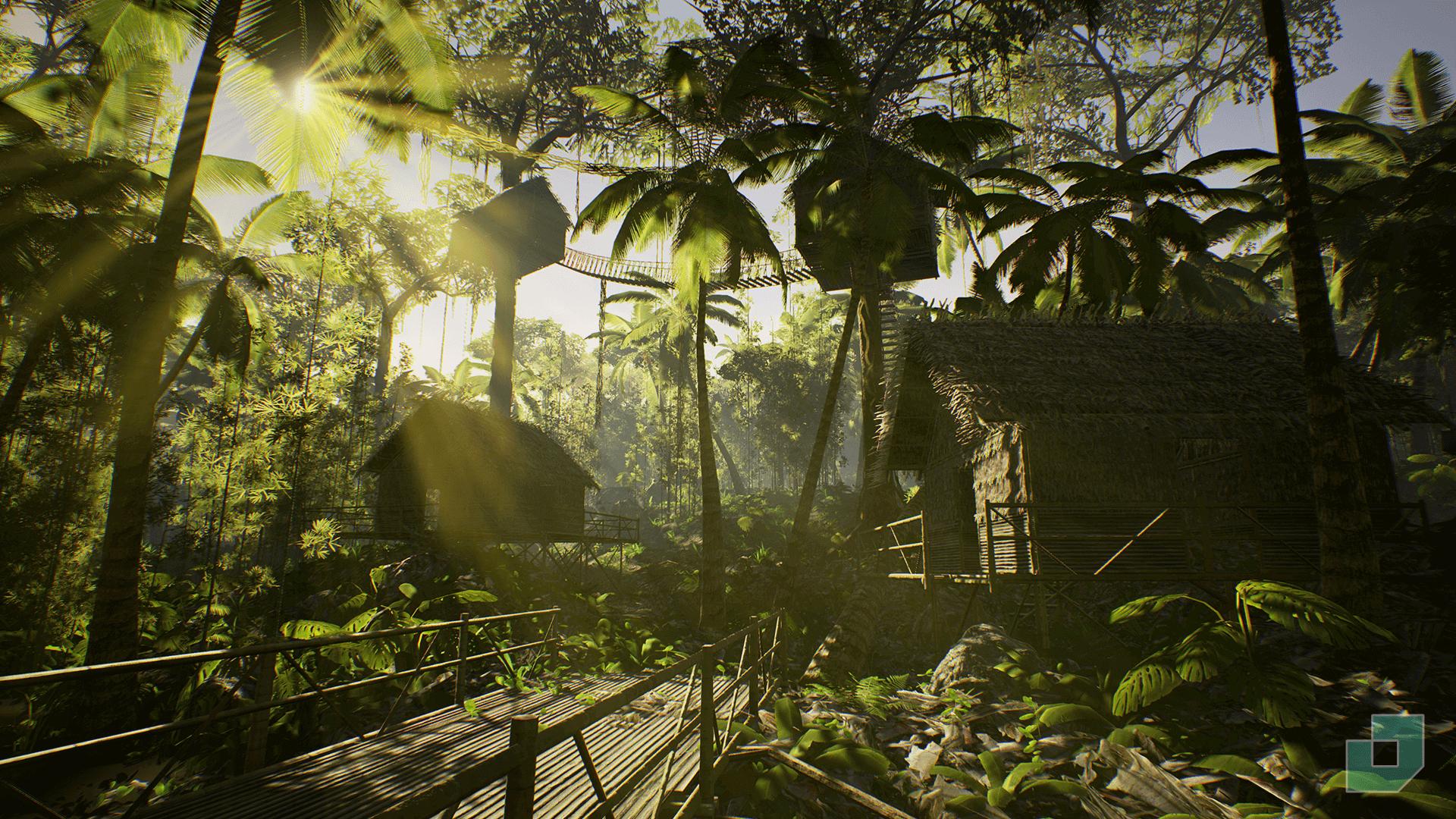 محیط آنریل انجین Low Poly Rainforest Pack