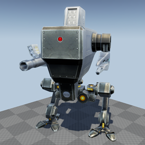This packs contains 5 SCI FI robotic creations destined for mobile devices.