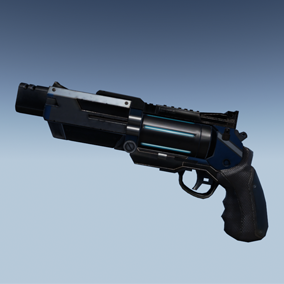 A set of 5 Sci-Fi themed weapons. All assets are  fully rigged without animations. Set includes 9 materials in total including different color schemed materials for the Revolver and SMG.