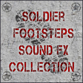 This is full collection of footstep sounds fx of Soldier character movement in army wear and footsteps sounds contain weapon and ammo packs rattle sounds.