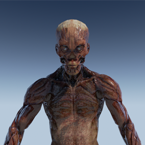 44 custom motion capture 60fps animations on Unreal skeleton; mesh, textures, LODs and blendshapes.