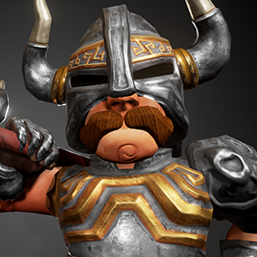 Game ready Stylized Warrior character.