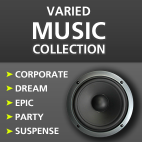 25 High quality music (with separated instruments). Themes: Corporate, Dream, Epic, Party and Suspense.