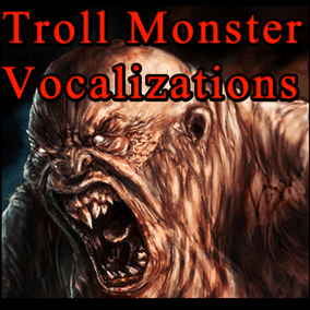 Troll Monster Vocalization contains 194 vocals sounds. Perfect for a variety of different games.