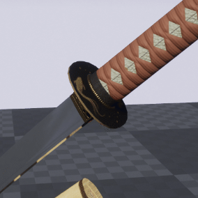 Create a great variety of katanas using different models and procedural textures.