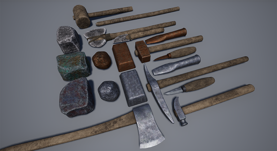 Artisan Tools Pack by SvitchMark in Props - UE4 Marketplace