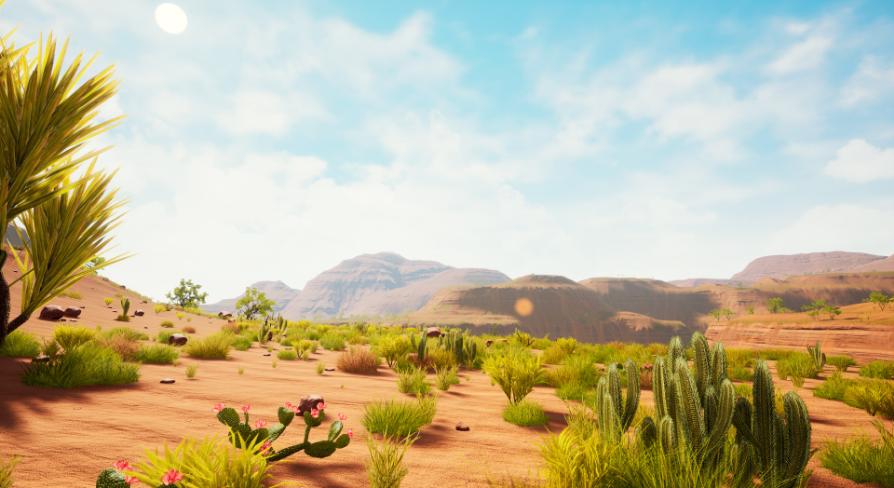 """Dead Canyon"" Landscape:環境 - UE マーケットプレイス"