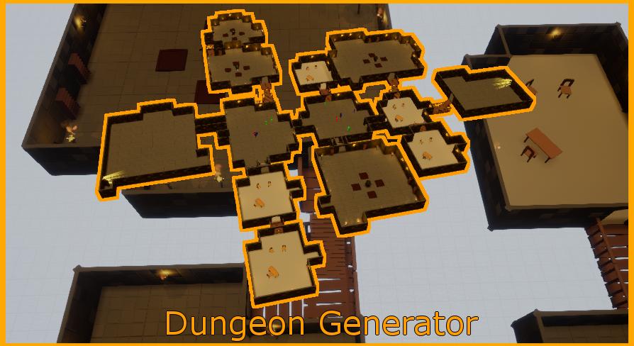 Dungeon Generator V2 by florianlequertier in Blueprints