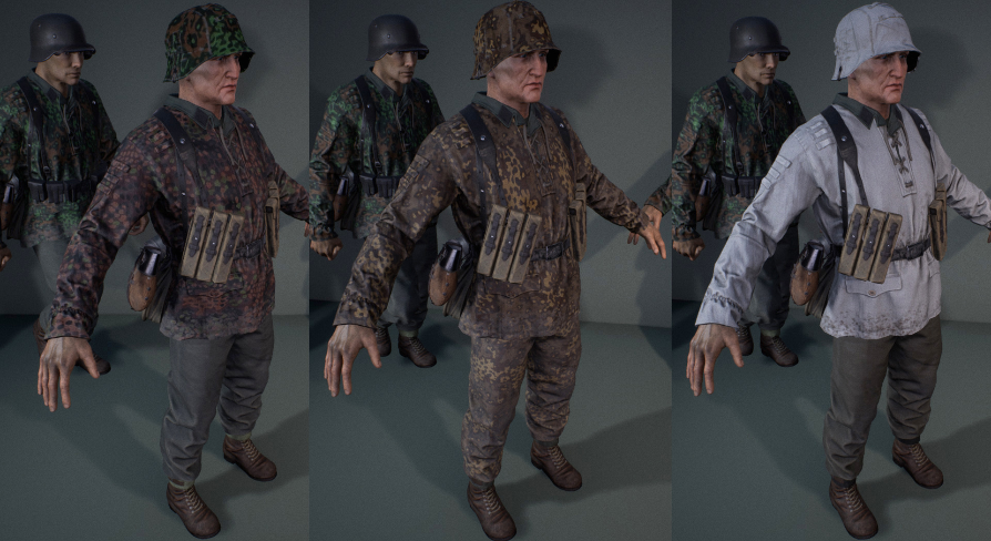 German Soldier WWII by TalkingDrums in Characters - UE4