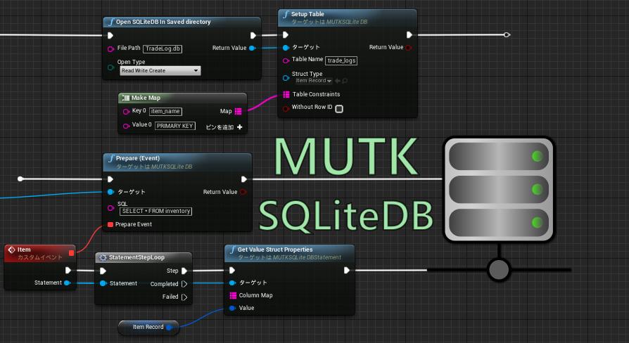 MUTK SQLiteDB by Mitsunagi Studio in Code Plugins - UE4 Marketplace
