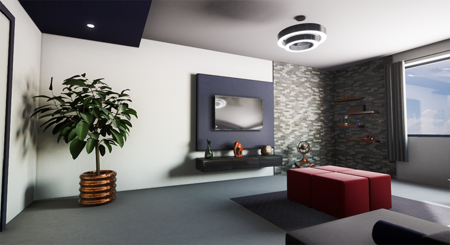 Modern Living Room In Architectural Visualization Ue Marketplace