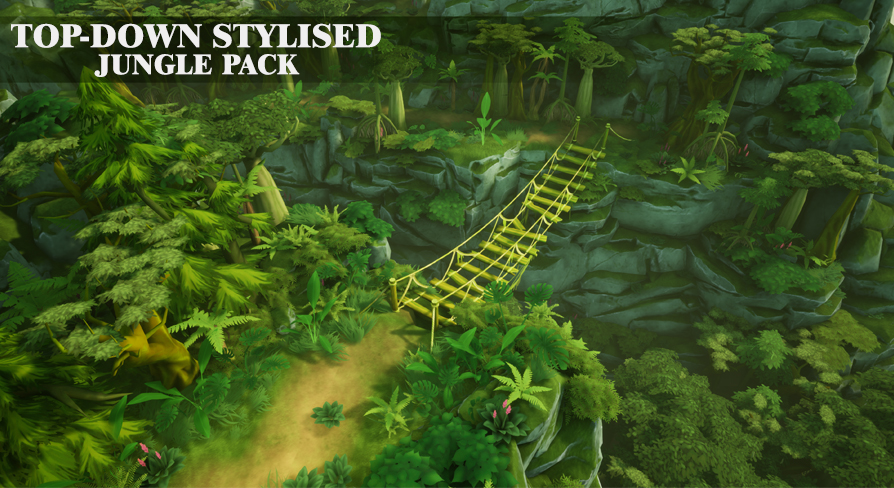 Top Down Stylized Jungle Pack