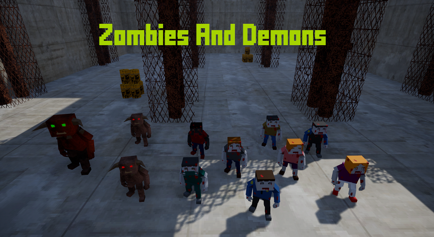 Zombies And Demons by Cyberdei in Characters - UE4 Marketplace