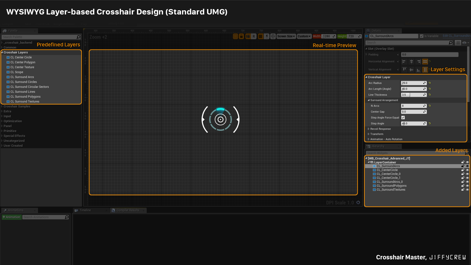 how to change scope crosshair thickness