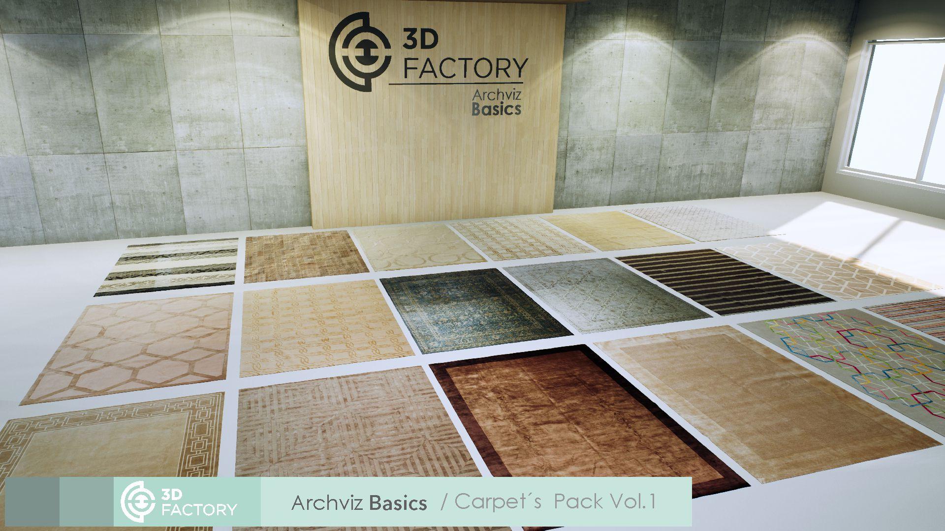 ArchViz Basics - Carpets- Pack Vol  1 by 3d factory in