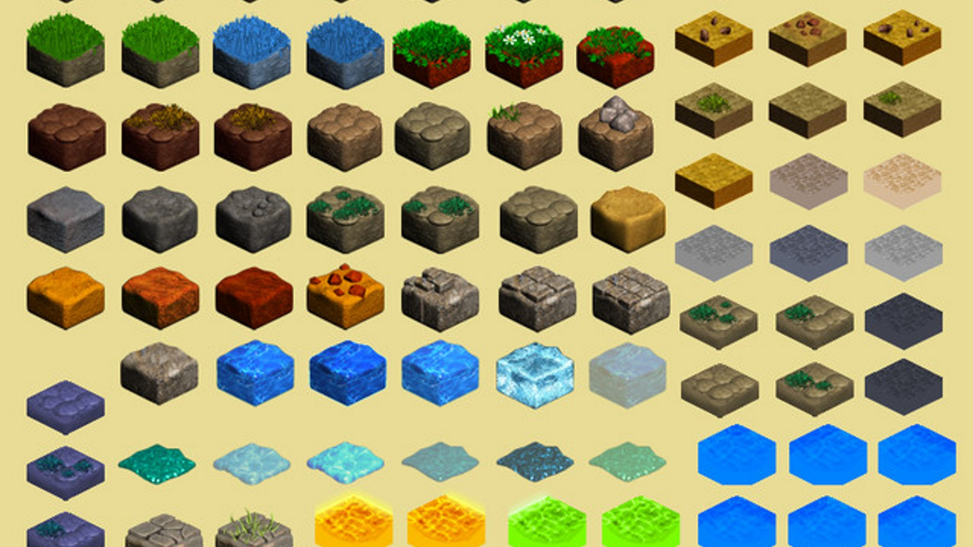 2D Isometric Tiles Set by MAXMEDIAGAMES in 2D Assets - UE4