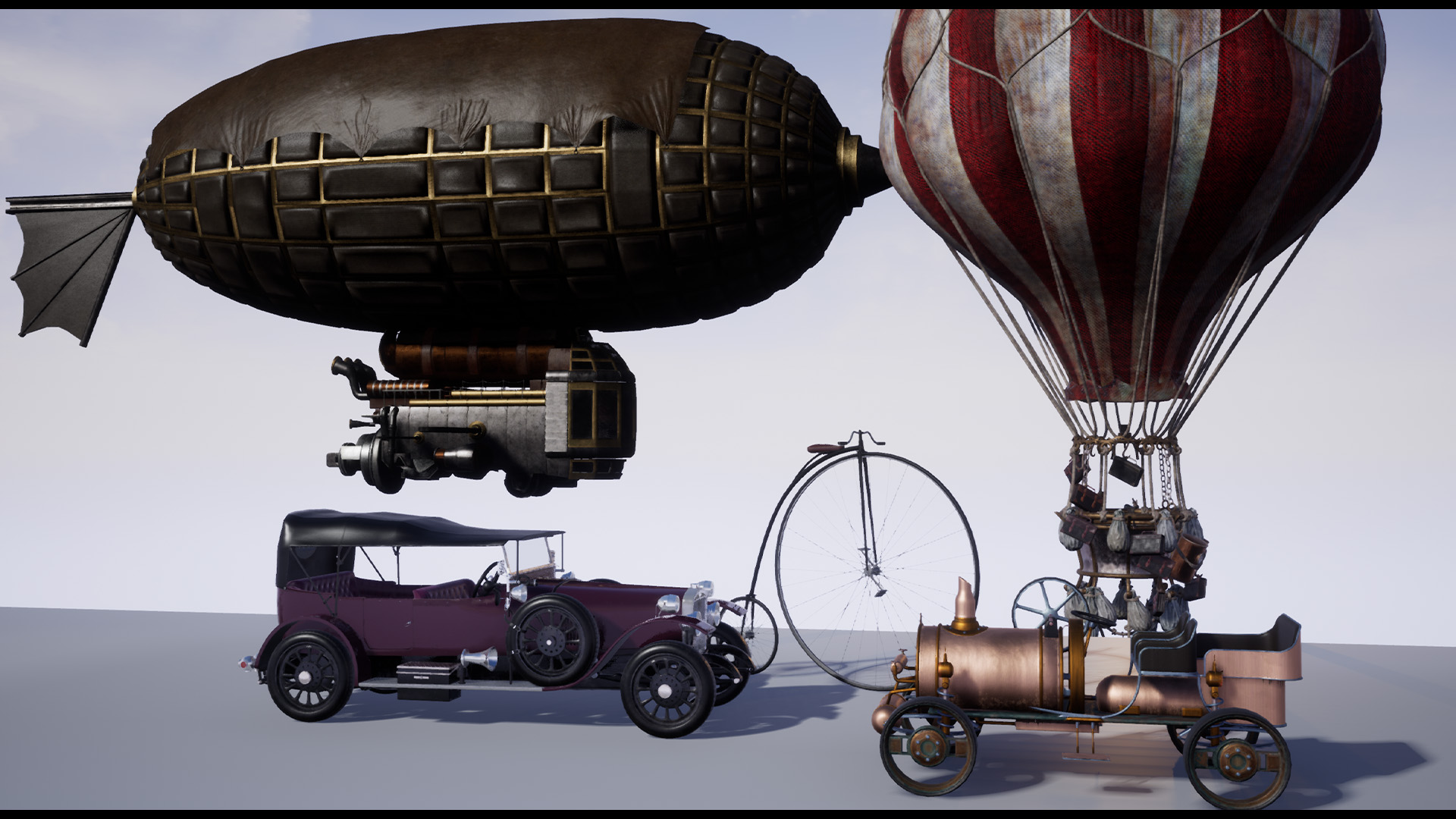 Steampunk Victorian Vehicles Set Of 5 In Props Ue Marketplace