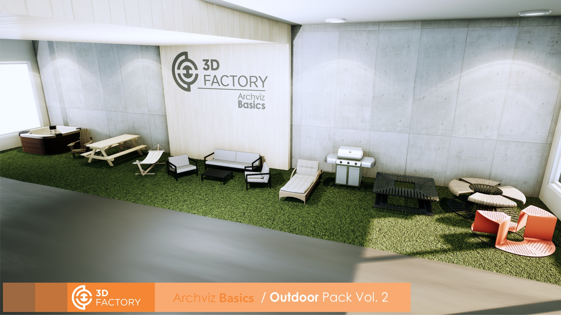 ArchViz Basics - Outdoor - Pack Vol 2 by 3d factory in