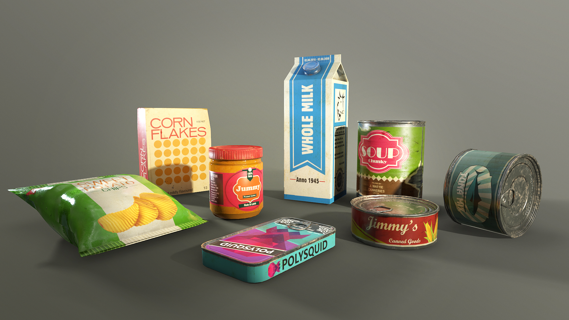 Survival Food Pack by Polysquid Studios in Props - UE4 Marketplace