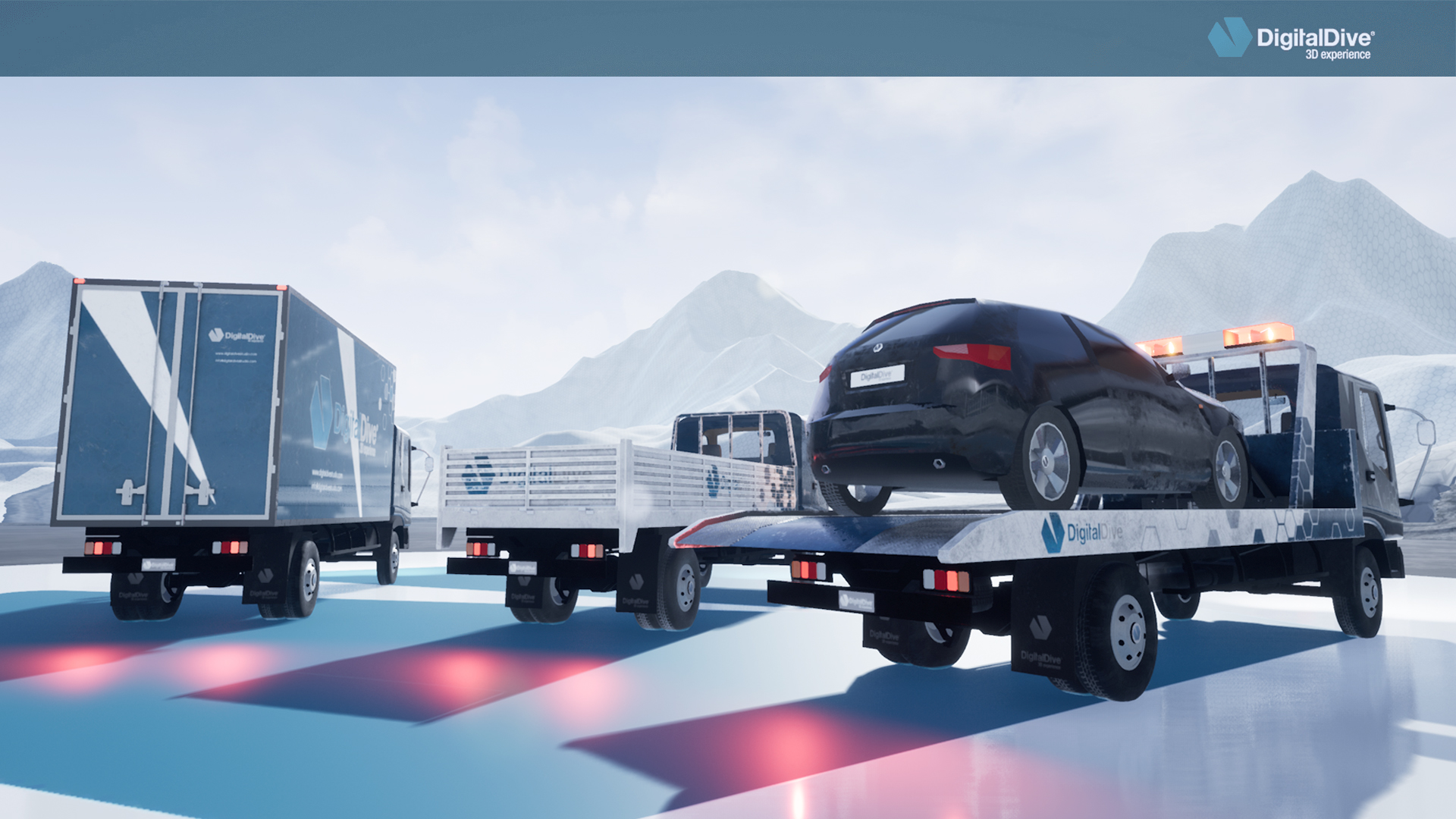 Driveable Cars: Cargo Truck 1 (3D Assets) by Digital Dive Studio in