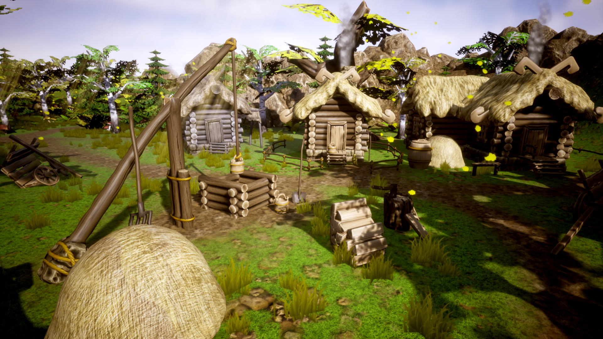 cgwell【FREE】UnrealEngine4 Stylized Village Construction Kit FOR4.2082 作者:古越神魇 帖子ID:100462