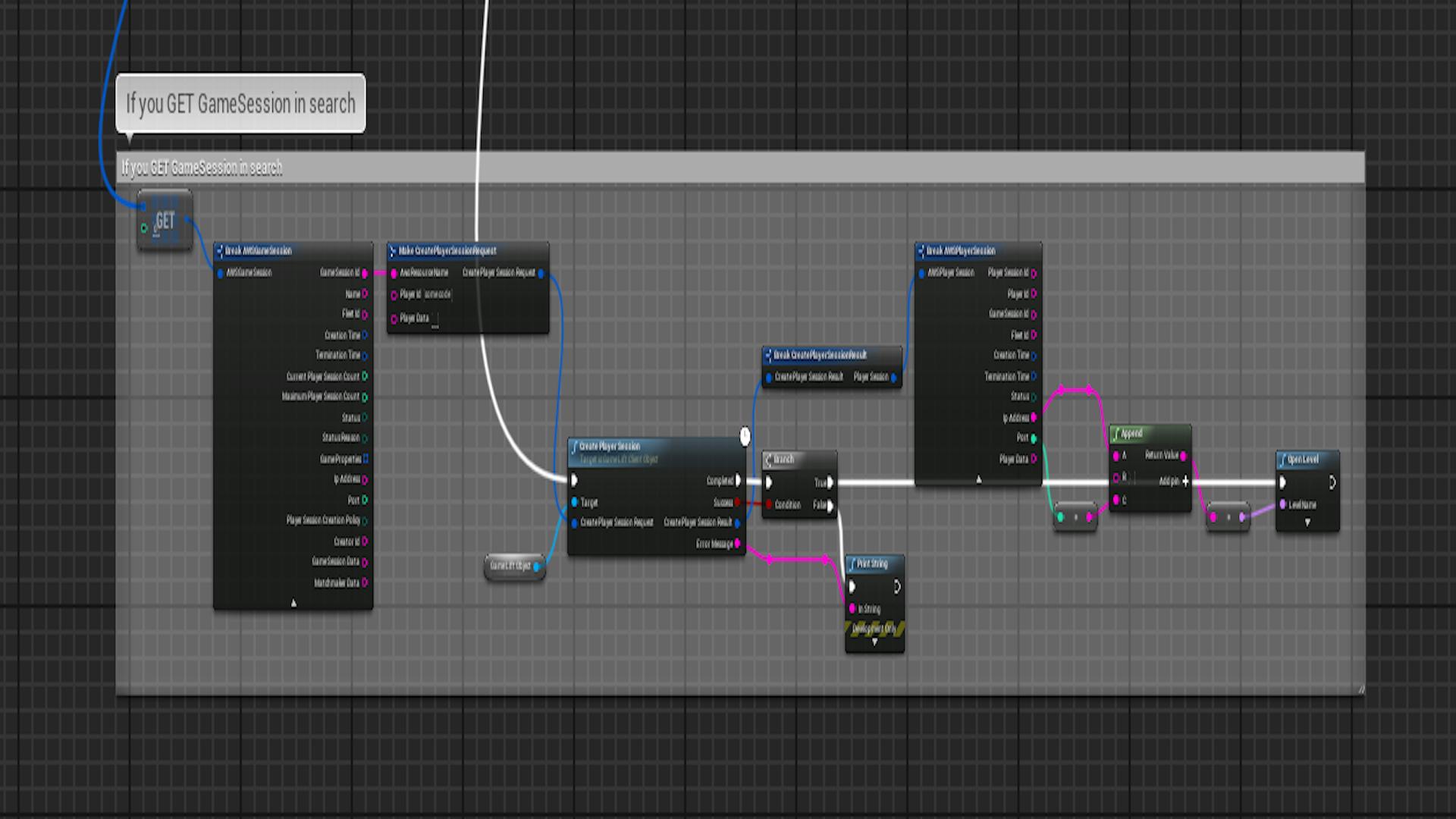 aws Game Lift Client Blueprint Plugin by Block Chop Studios