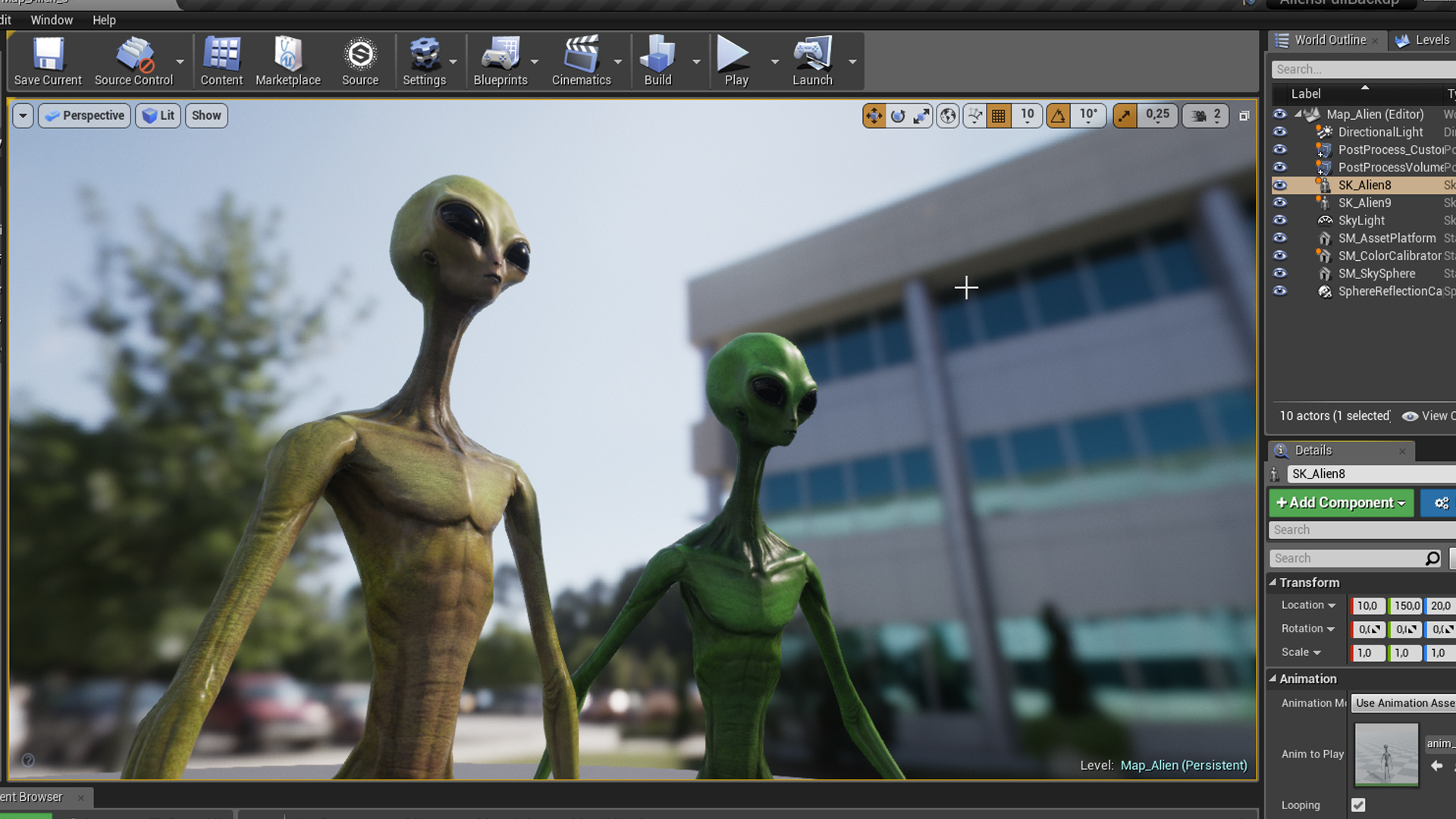 Realistic Alien 6 by SuperGameCharacters in Characters - UE4