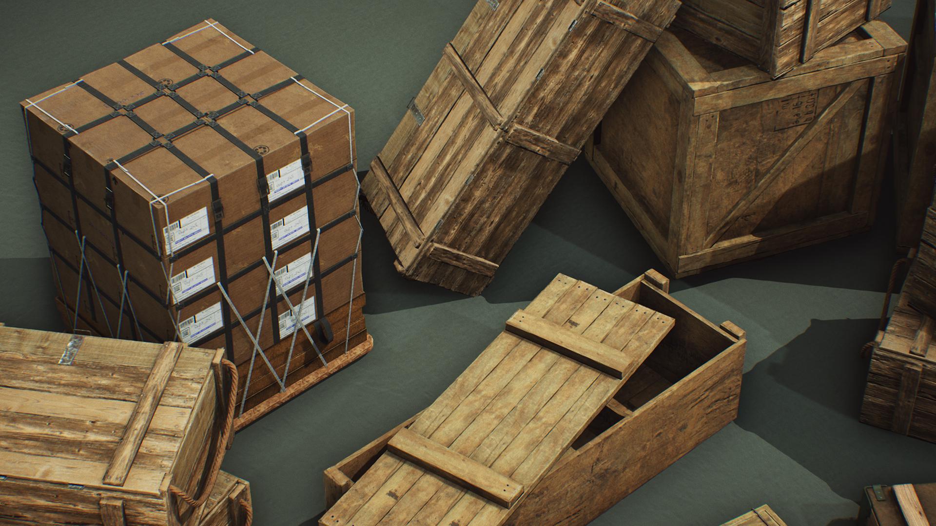 Military Supplies - VOL 6 - Crates by Dekogon Studios in