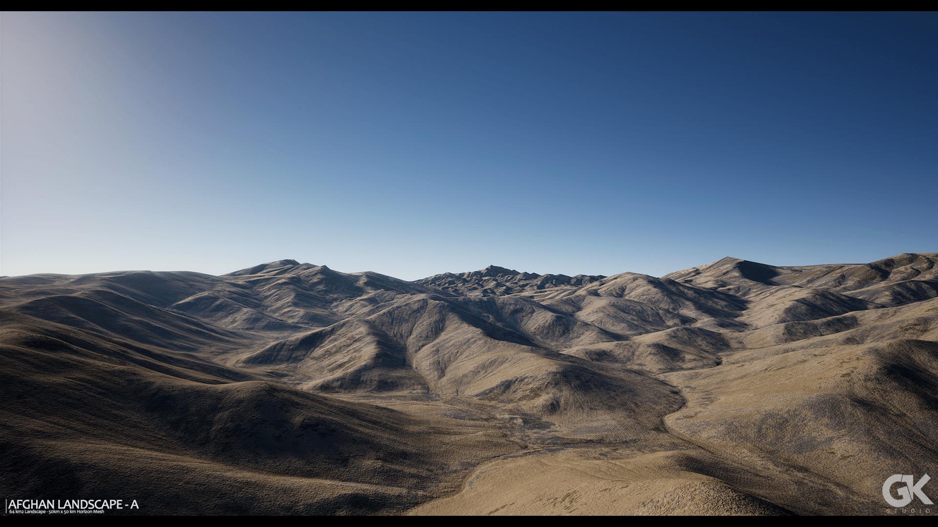 Afghan Landscape A by Gokhan Karadayi in Environments UE4