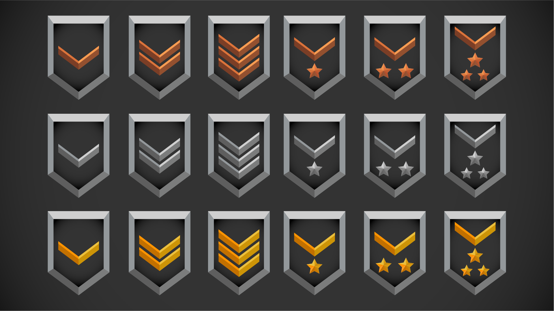 fps ranks icons by roman stets in 2d assets ue4 marketplace