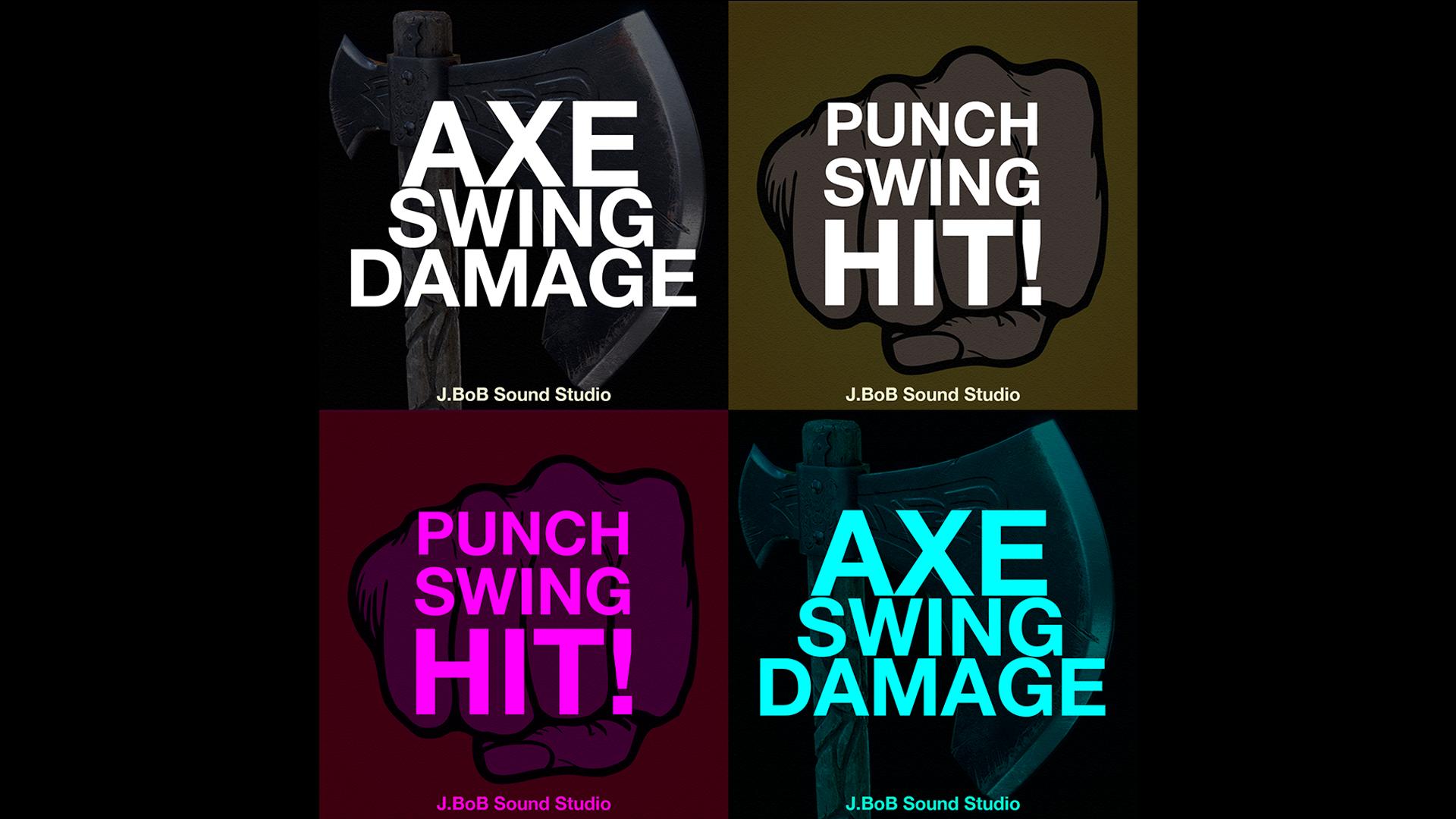 Axe / Punch Swing & Damage by J BoB Sound Studio in Sound