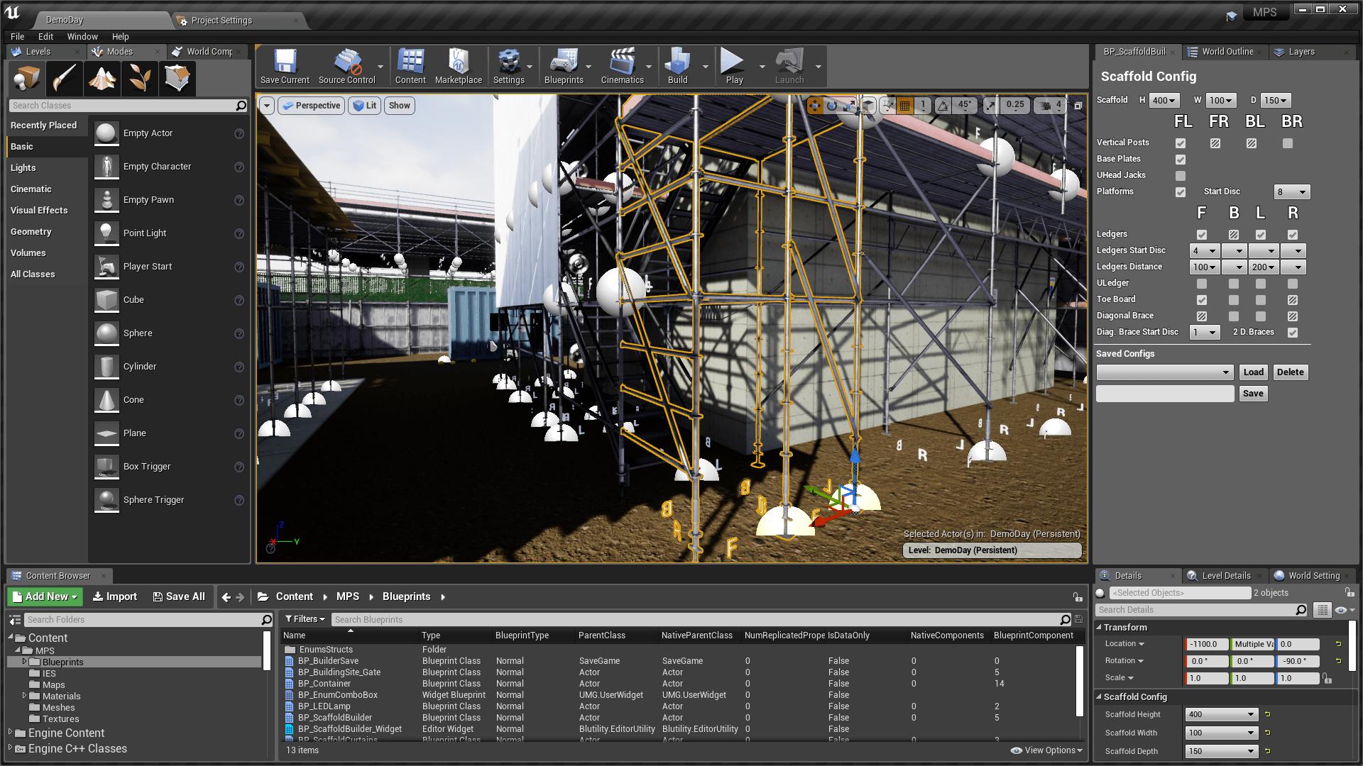 Modular Procedural Scaffold System by Inu Games in