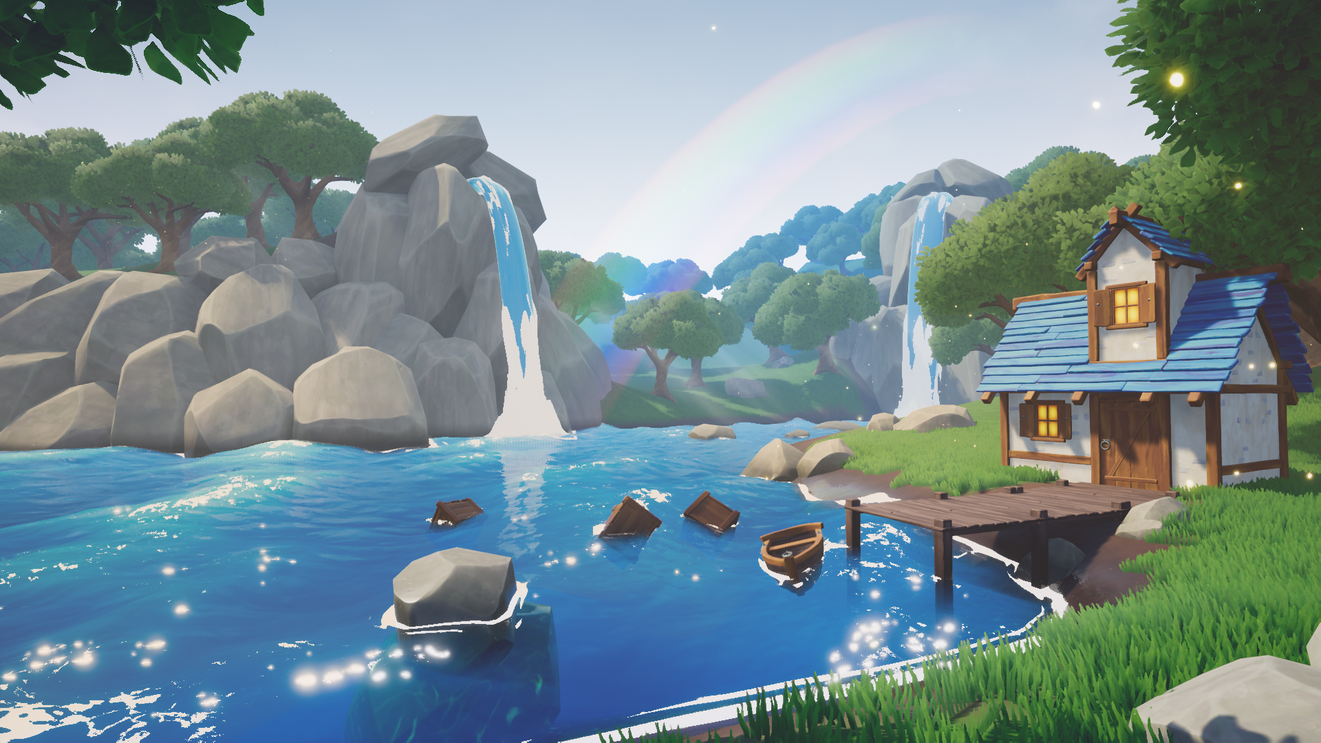 Cartoon Water Shader by Kloki in Materials - UE4 Marketplace