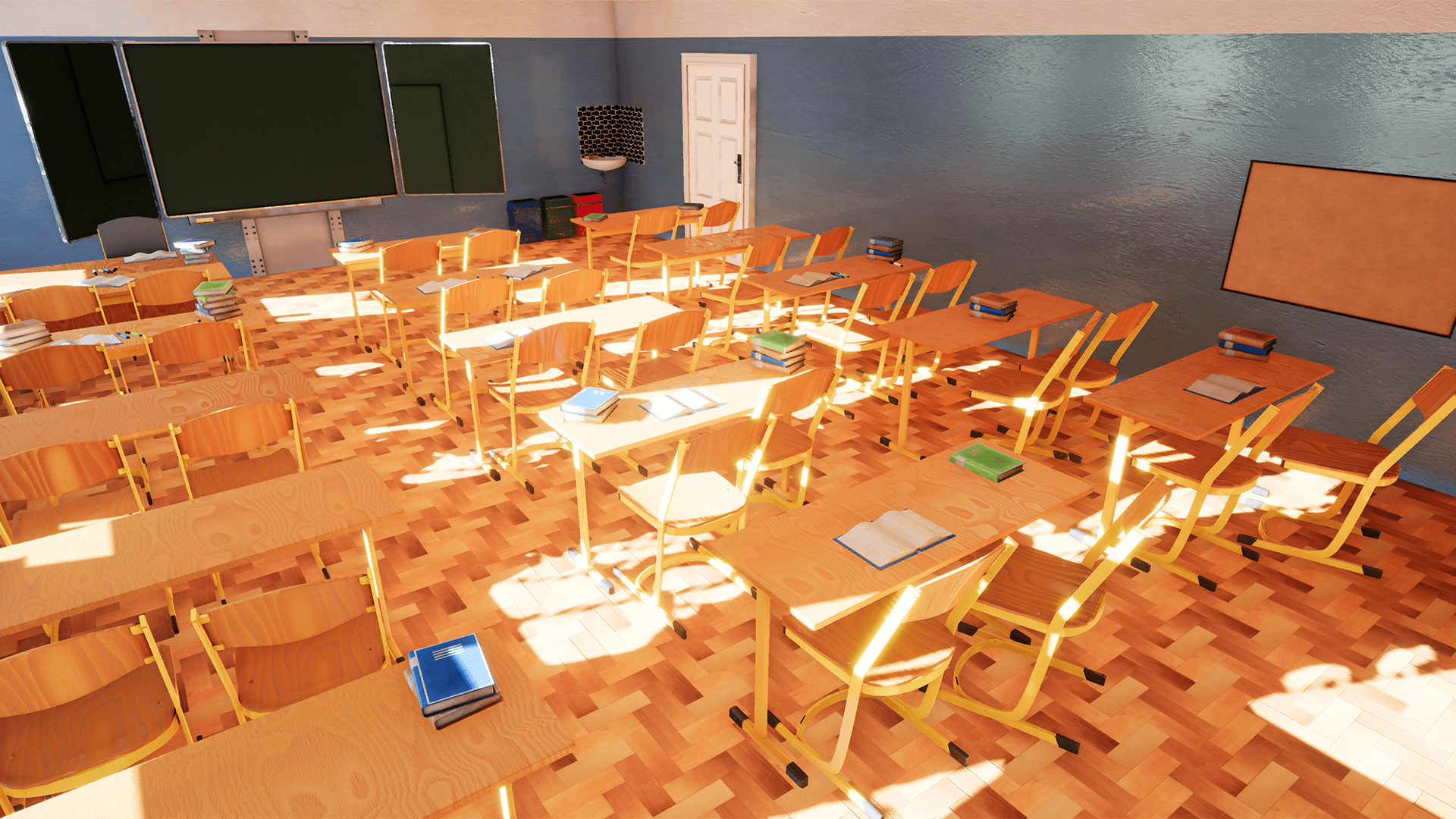 Modern Classroom Games ~ Classroom modern abandoned by infinite production in