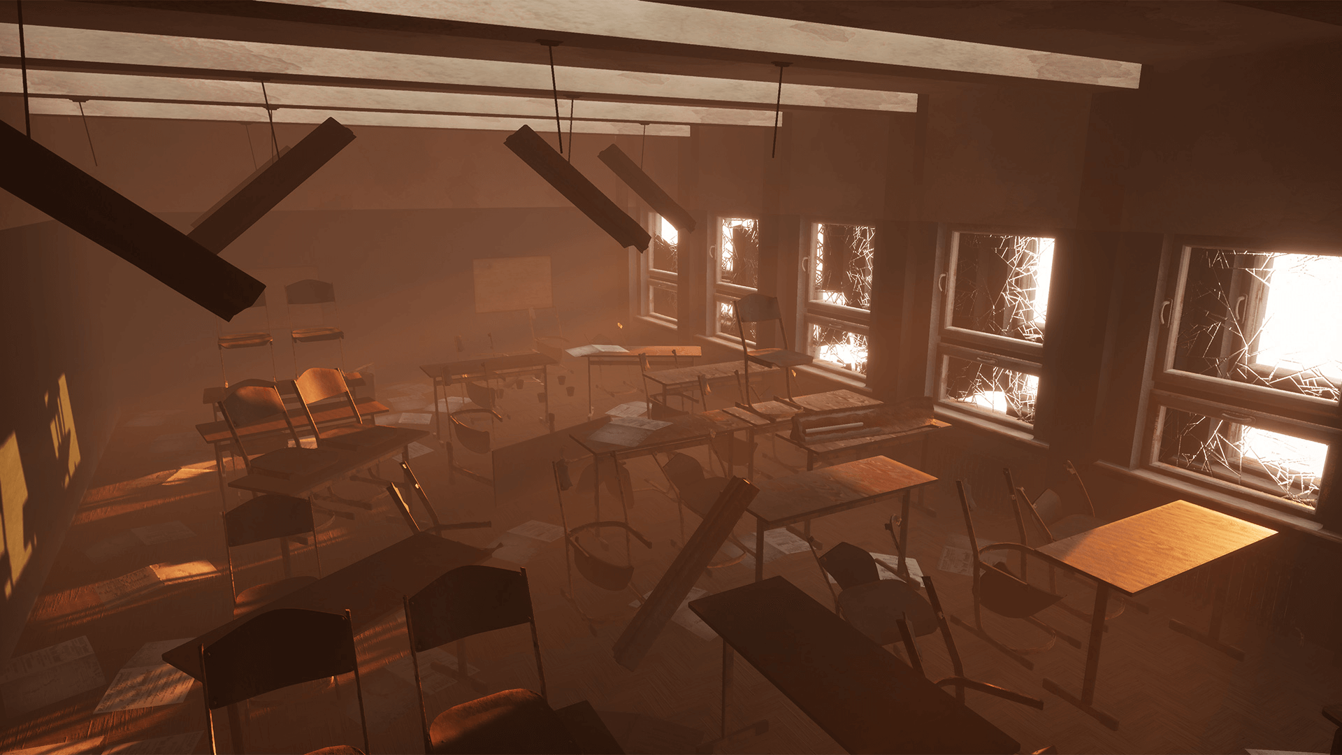 Modern Classroom Game : Classroom modern abandoned by infinite production in