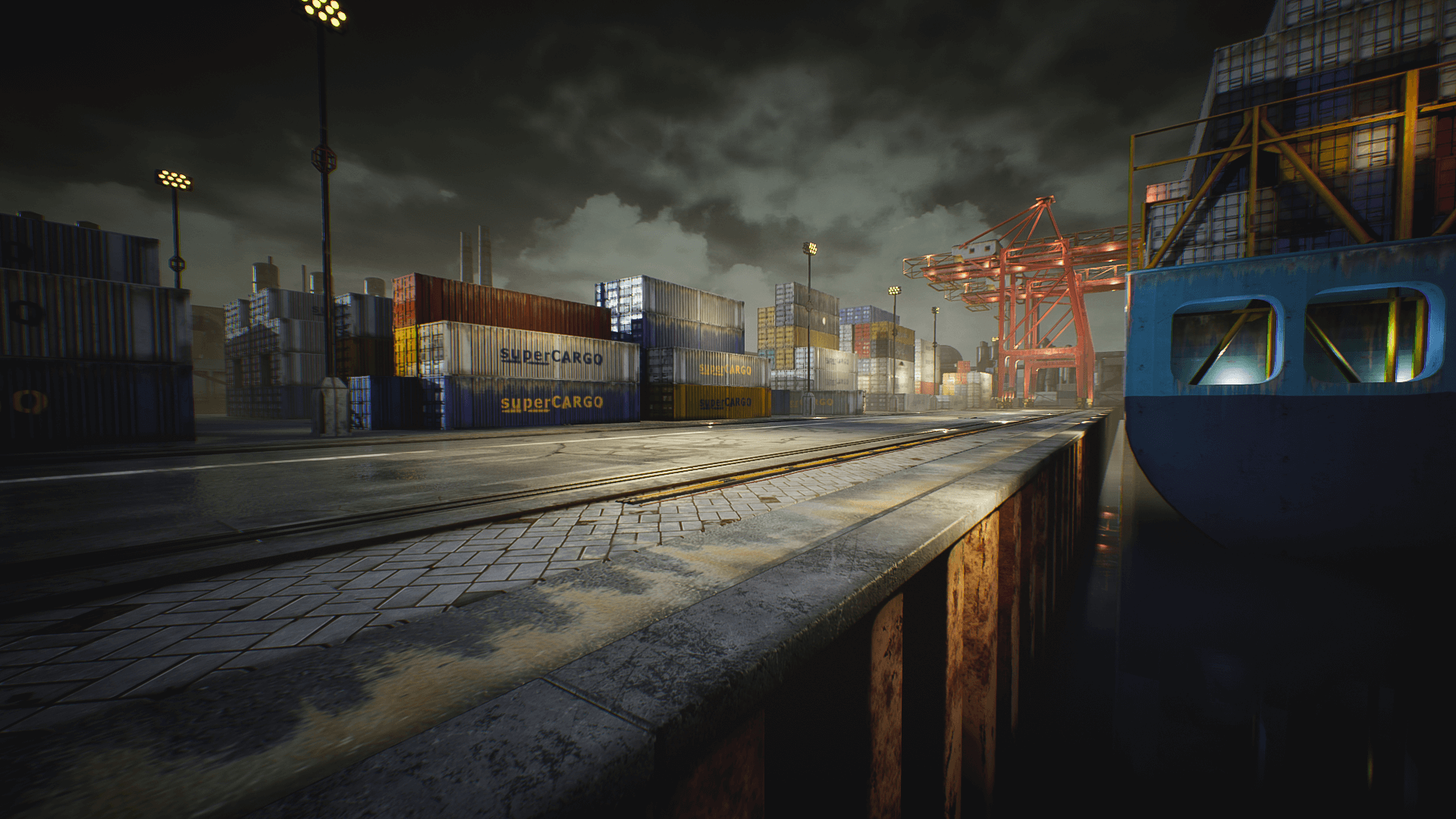 Container Yard Environment Set By Denys Rutkovskyi In