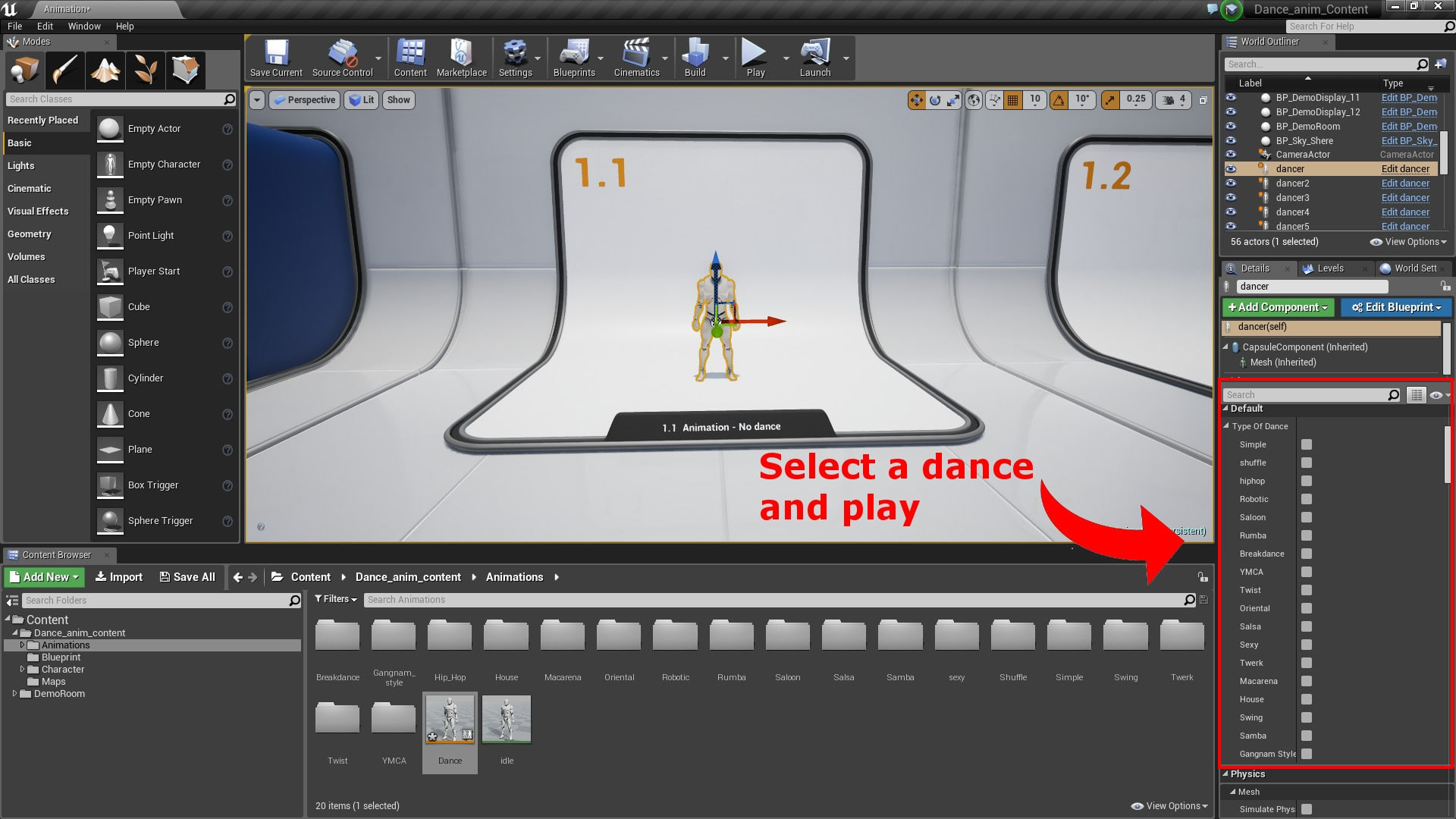 Dances animations pack by terribilis studio in animations ue4 share malvernweather Image collections