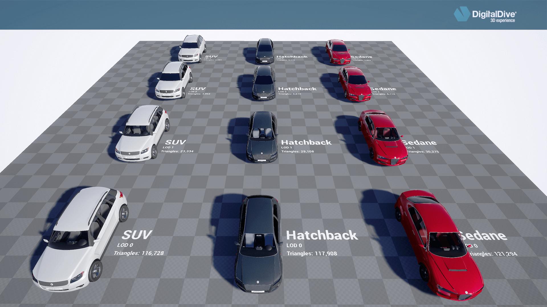 driveable cars basic pack 3d assets blueprints by digital dive