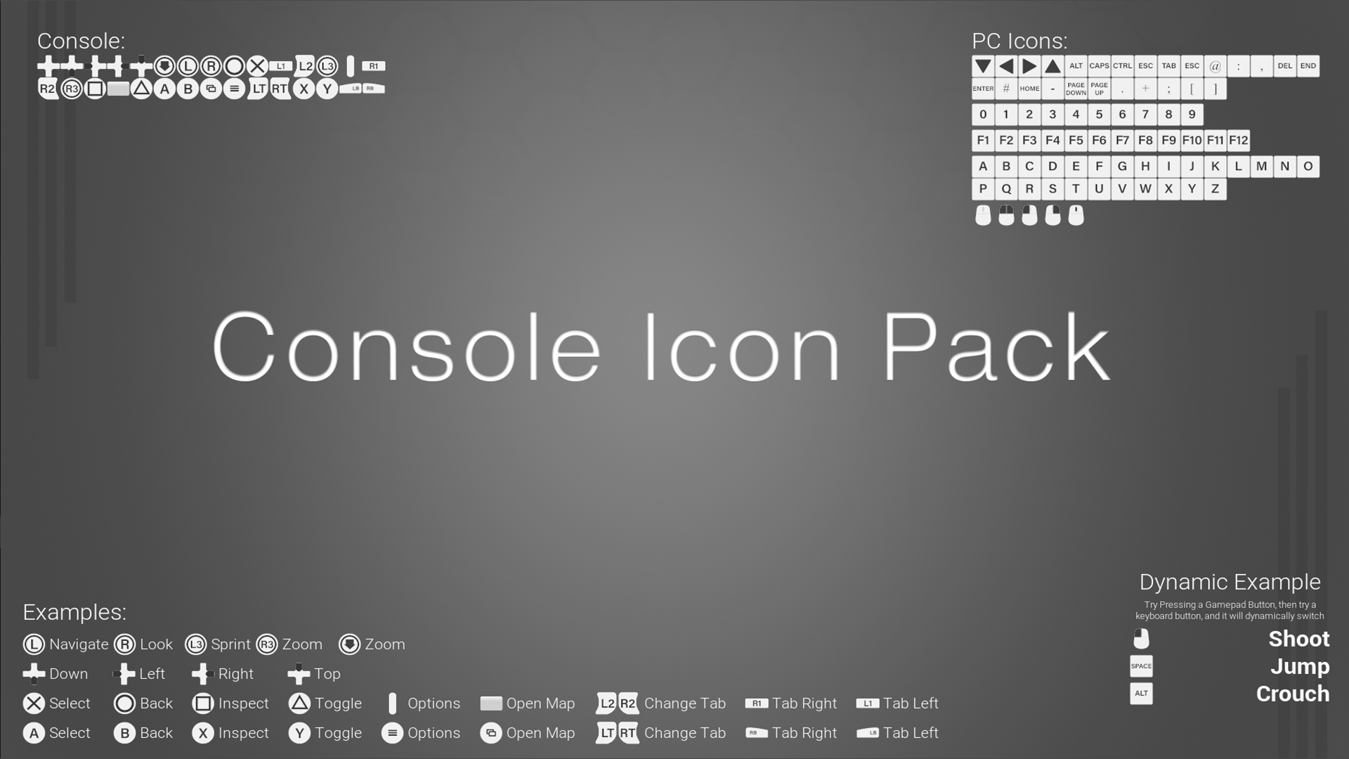 Dynamic Switching PS4/Xbox/PC Icon Pack - 110 Light Themed Icons by