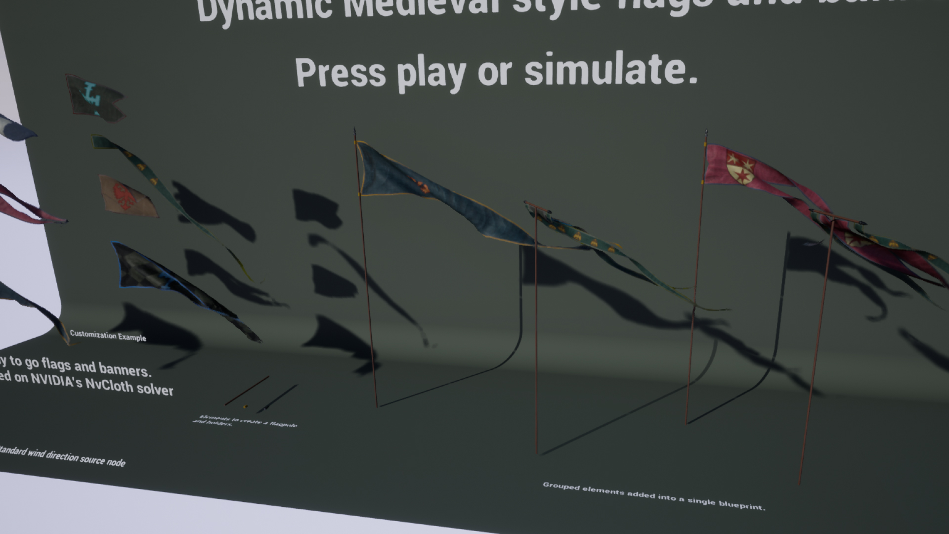 Dynamic Medieval Flags and Banners by Alexander Ponomarev in Props