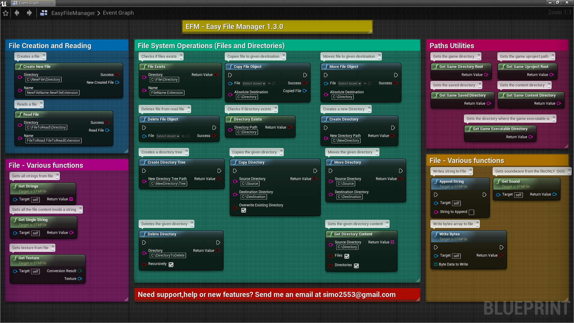Easy File Manager - EFM by Dawnfall Arts in Code Plugins - UE4